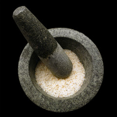 Mortar with spice salt