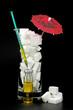 zuckerwürfel mit spritze