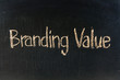 The word BRANDING VALUE
