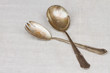 antique cutlery - spoon and fork