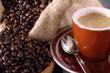 Colazione con tazzina di caffè