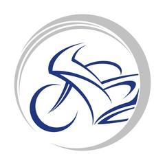 motorbike circle logo