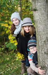 Herbstspaziergang mit den Kindern
