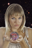 fortune teller holding a crystal ball poster