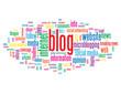 """BLOG"" Tag Cloud (internet news online website forum web button)"