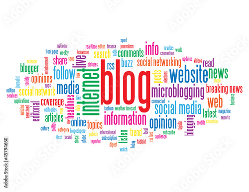 """BLOG"" Tag Cloud (internet news online website forum web button)"