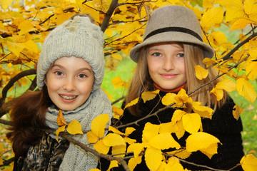 Schönes Herbstportrait