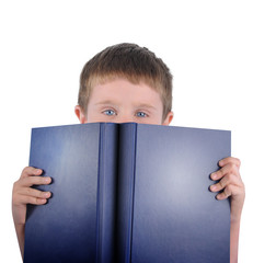 Reading School Boy with Book