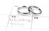 Fototapety Wedding rings isolated on white