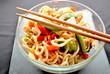 Chicken Lo Mein with Chop Sticks