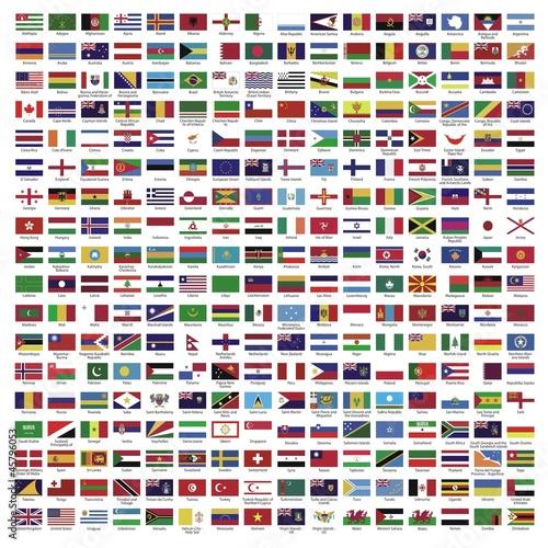 Land ~ Länder ~ Welt ~ World ~ Fahnen ~ Flaggen - Megaset - 45796053