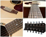 set of four view of an acoustic twelve strings guitar poster