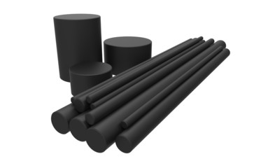 Rods of graphite