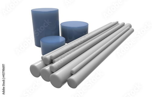 Rods of plastic