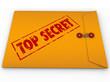 Top Secret Confidential Envelope Secret Information