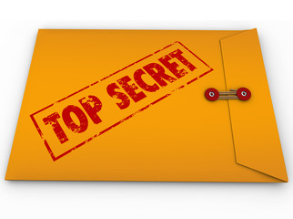 Top Secret Confidential Envelope Secret Information