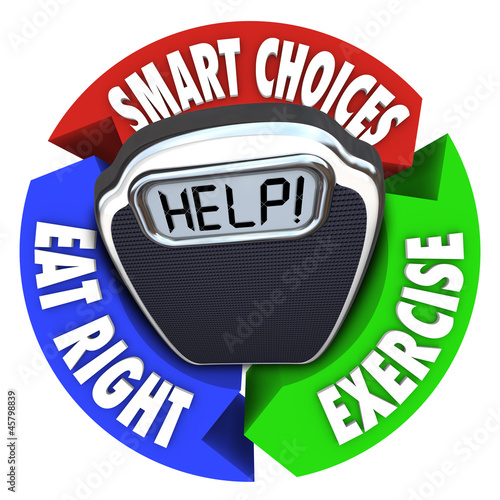Scale Help Diagram Smart Choices Eat Right Exercise