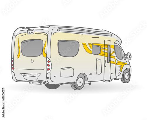 Recreational Vehicle Illustration