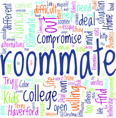 How to Deal with a College Roommate Concept