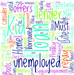 Loans for Unemployed Student Concept
