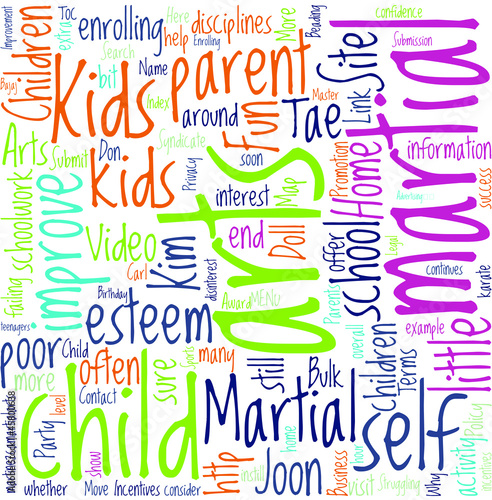 Martial Arts For Struggling Children Concept
