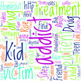Types of Drug Rehabilitation For Teenager Drug Abuse Concept poster