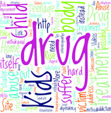 Kids Drug Abuse Concept