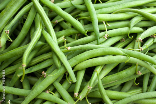Green beans Fresh green beans from an open market