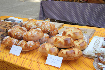 French bread at a market