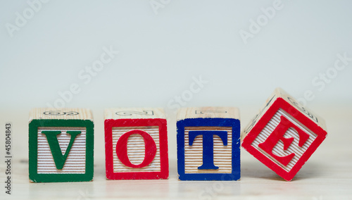 Vote word in blocks