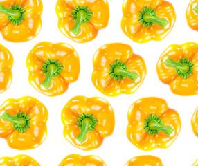 Seamless orange bell pepper