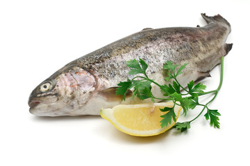 trota iridea - rainbow trout with lemon