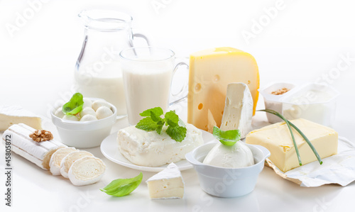 canvas print picture Assortment of dairy products