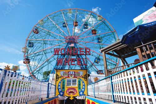 Papiers peints Attraction parc Coney Island's Wonder Wheel