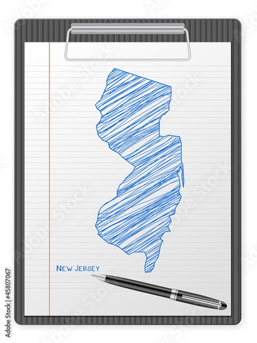 clipboard New Jersey map