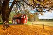 Wohnhaus in Schweden im Herbst