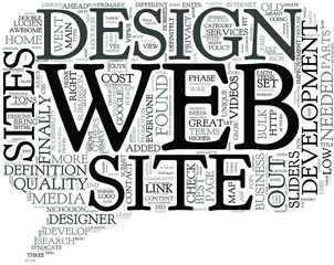 Quality Web Design - What's the Definition Concept