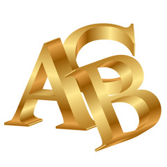 Vector 3d icon of ABC
