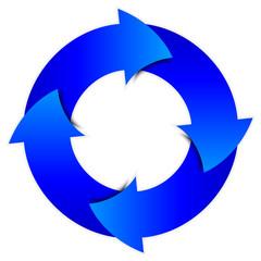 Vector blue arrows circle