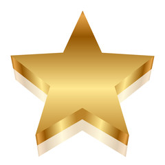 Vector 3d illustration of gold star