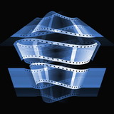 blue film roll background