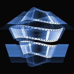blue film roll background
