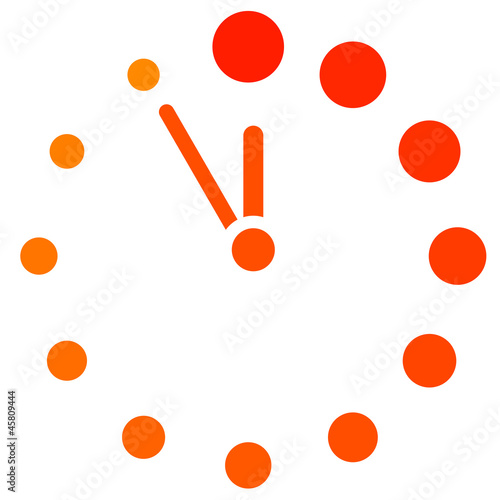 Vector red clock icon