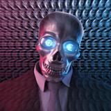 Bad Banker Euro 3D Skull poster