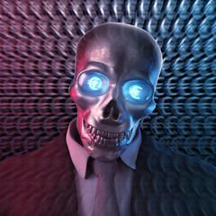 Bad Banker Euro 3D Skull
