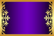 Vector floral purple and gold frame