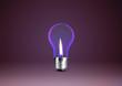Wax candle into lighting bulb