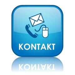 """""""KONTAKT"""" Button (Kundenservice Hotline Rufen Sie Uns Knopf Web)"""