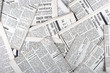 canvas print picture - background of old vintage newspapers
