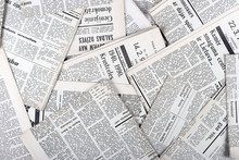of old vintage newspapers